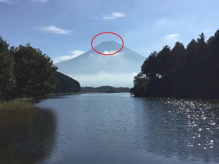 田貫湖と右肩上がりの富士山