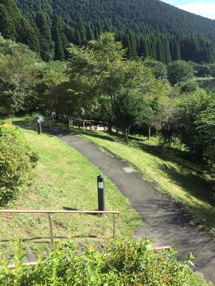 山と遊歩道