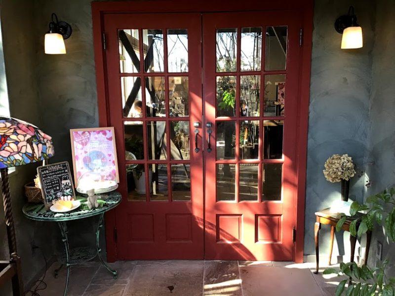 カフェ入り口の写真