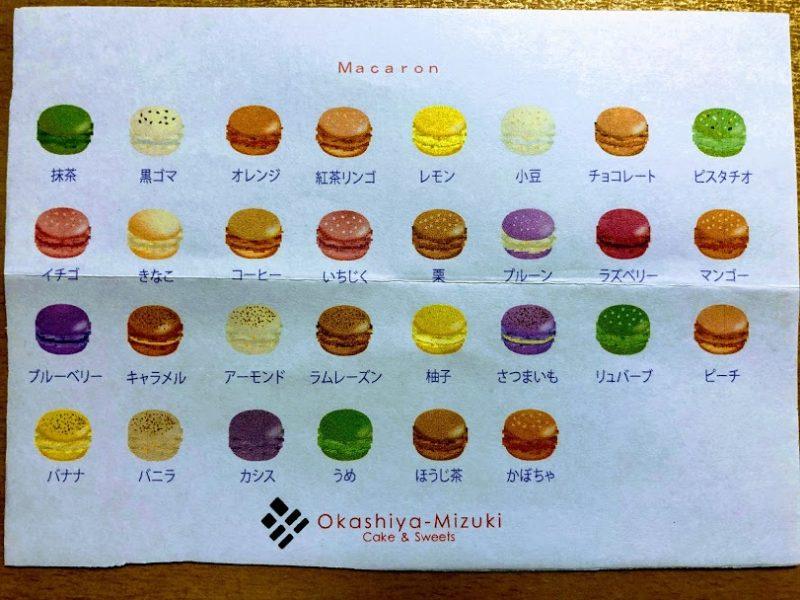 マカロンメニュー表の写真