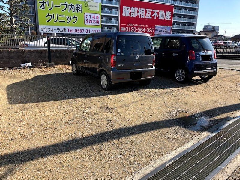 そば松駐車場全体の写真