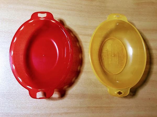オムライスの容器2種類の写真